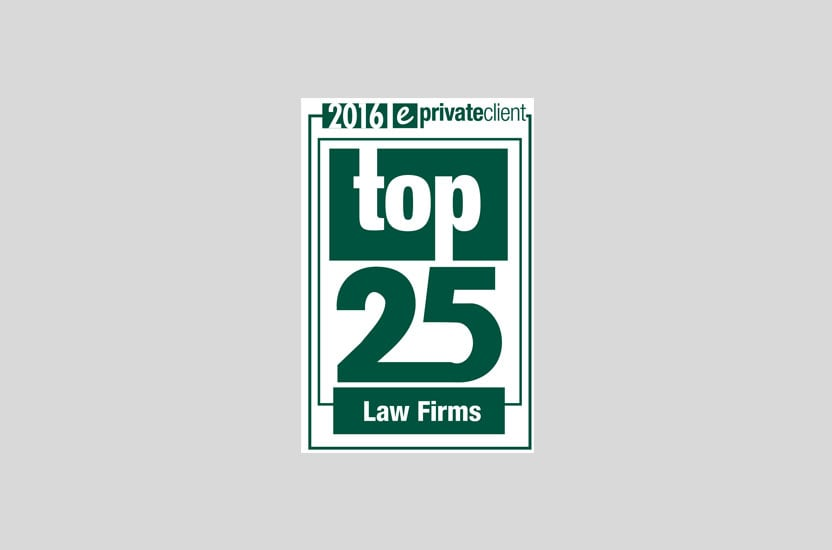 eprivateclient's Top 25 Law Firms 2016: Payne Hicks Beach listed